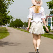Walking girl — Stock Photo
