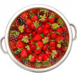 Bowl with strawberries - Stock Photo