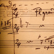Hand-written musical notation — Foto de Stock