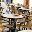 Cafe tables outdoors - Stock Photo