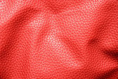 Rumpled red leather — Stock Photo