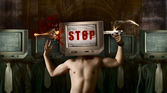 Stop your TV — Stock Photo