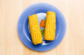 Corn on a plate — Stock Photo