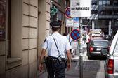 Prague policeman — Stock Photo