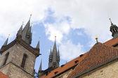 średniowieczny zamek dachu — Zdjęcie stockowe