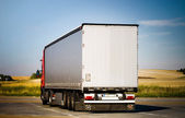 Heavy truck back view — Stock Photo