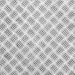Chequer metal texture - Stock Photo
