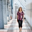 Stock Photo: Walking girl