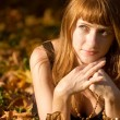 Girl autumn portrait - Stock Photo