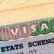 Stock Photo: Schengen visin passport