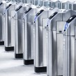Modern turnstile - Stock Photo