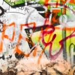 Graffiti on a wall closeup — Stock Photo #1695841