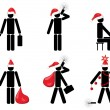 Businessmans christmas symbols — Stock Photo