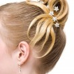 美しい女性の髪形 — ストック写真