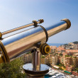 Telescope in a popular tourist place - Stock Photo
