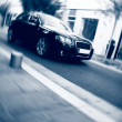 Fast car motion — Stockfoto