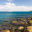 Mediterranean sea coast - Stock Photo