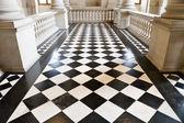 Chequer floor — Stock Photo