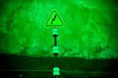 Electric danger sign — Stock Photo