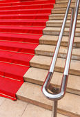 Famous red carpet in Cannes France — Stock Photo