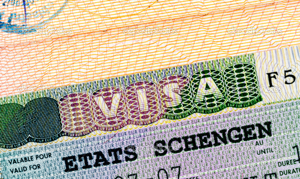 Schengen visa in passport closeup. — Stock Photo #1695827
