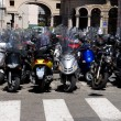 Royalty-Free Stock Photo: Lots of motorcycles in a city