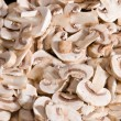 Cuted fresh mushrooms — Stock Photo