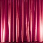 Pink curtain — Stock Photo #1714886