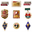 Stock Photo: USSR badges