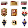 USSR badges - Stock Photo