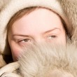 Very cold weather woman portrait — Stock Photo #1714964