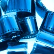 Photographic film pieces - Foto de Stock