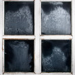 Window frame with frozen glass — Stock fotografie