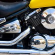 Chrome motorcycle engine — Stock Photo #1715049