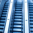 Stock Photo: Underground escalator