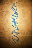 DNA symbol on dirty school board — Stock Photo