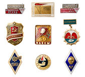 USSR badges — Stock Photo