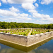 Famous Chenonceaux park in France — Stock Photo
