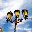 Classic steet lamp in Paris - Stock Photo