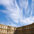 Louvre building and beautiful blue sky — Stock Photo