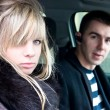 Stock Photo: Couple in car