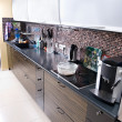 Stock Photo: Modern kitchen wide angle view
