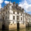 Stock Photo: Chenonceaux castle on water
