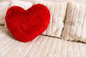 Fluffy soft red heart — Stock Photo