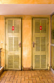 WC doors in classic style — Stock Photo