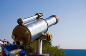 Tourist telescope at sea coast — Stock Photo