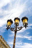 Classic steet lamp in Paris — Stock Photo
