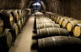 Botti per vino in cantina — Foto Stock