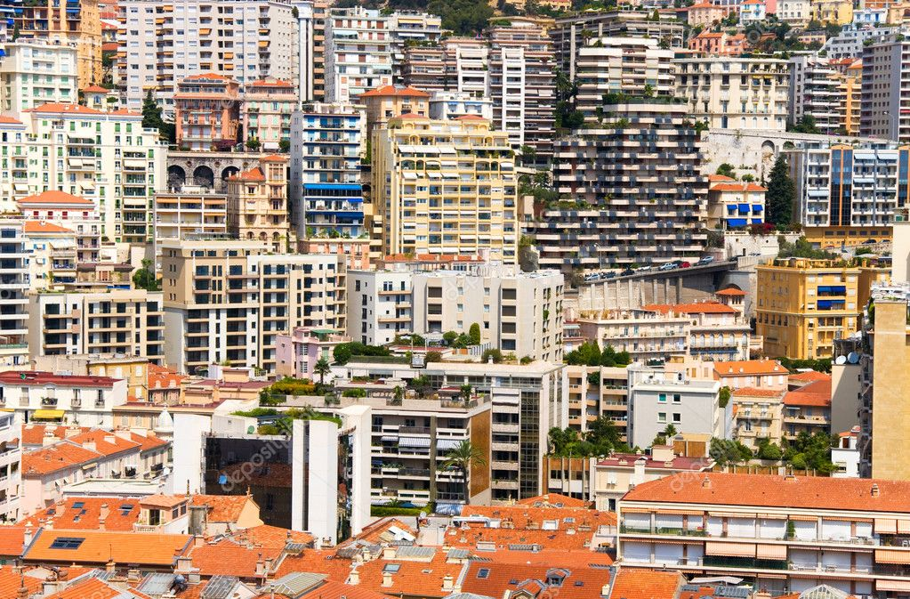 City closeness. A lot of buildings on a very small area. Monaco. — Stock Photo #1730639