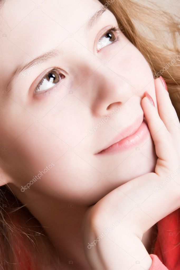 Dreaming woman portrait. Soft colors. — Stock Photo #1730839